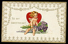 'To My Sweetheart' Valentine's Day 1909 Postcard