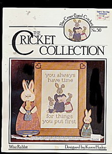 'Wise Rabbit' Cricket Collection Cross Stitch