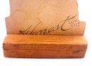1880s Honest Tobacco Diecut Ship Card - Mounted