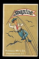 1880s Soapine (Soap) Kendall Mfg Trade Card