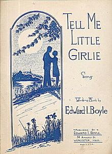"""""""Tell Me Little Girlie"""" 1930 Sheet Music"""