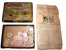 Early 1900s 'Letters or Anagrams' Parker Brothers Game