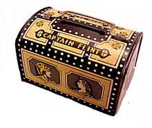 1950s 'Captain Flint' Treasure Chest Metal Bank
