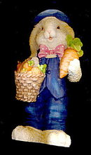 """Great 8"""" Resin Easter Bunny/Rabbit with Carrots"""