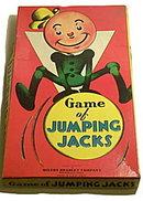 """1937 """"Jumping Jacks"""" Milton Bradley Game"""