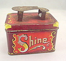 """Early 1900s """"Shoe"""" Shine 5 Cents Tin"""