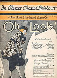 1918 'I'm Always Chasing Rainbows' Sheet Music