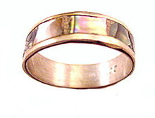 Vintage Sterling with Mother of Pearl Band Ring
