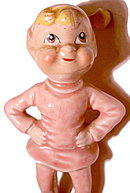 Vintage Kreiss 1955 Pixie Elf  in Pink Standing