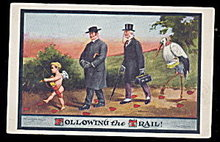 Ullman 'Following the Trail' Stork & Baby Postcard