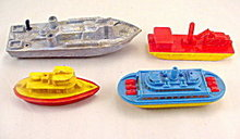 4 1950s Hard Plastic Renewal, etc Boats