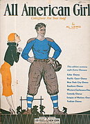 'All American Girl' Football Player 1932 Sheet Music