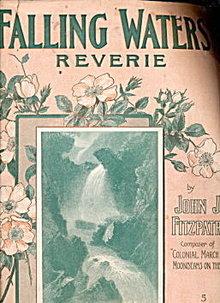 """Falling Waters Reverie"" 1908 Sheet Music"