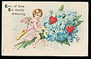 1910 Girl Cherub Valentine's Day Postcard