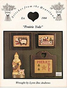 'Prairie Yule'  Lynn Dee Andrew Cross Stitch Leaflet