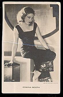 Edwina Booth Actress 1920s Black & White Postcard