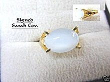 "1960s Sarah Coventry 'Beauty Glow"" Moonstone Ring"