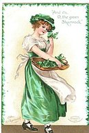 Ellen Clapsaddle St. Patricks Day Girl/Lass Postcard