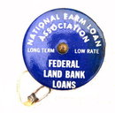 1920s Advertising National Farm Loan Tape Measure