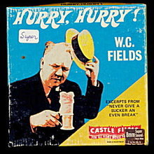 """Hurry, Hurry"" W C Fields 8mm Movie in Box"
