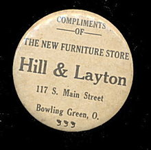 1930s Advertising Hill & Layton Store OH Mirror