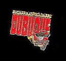 Vintage Enamel Dubuque Fighting Saints Pinback