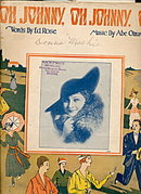 'Oh, Johnny, Oh Johnny, Oh' 1917 Sheet Music