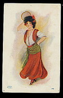 1905 White City Art Signed Gypsy Girl Postcard