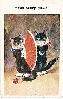 Donald McGill 'You Saucy Puss' Cats 1922 Postcard