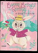 1950s 'Bunny Brings Spring' Coloring Book