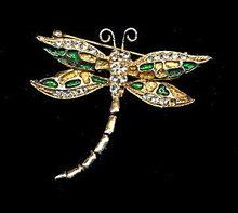 Lovely Vintage Butterfly Brooch with Glass Stones