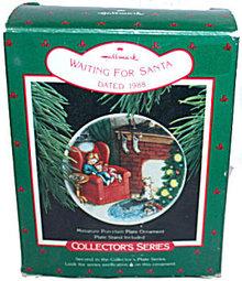 Hallmark 1988 'Waiting for Santa' Plate Ornament