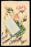 1908 Note from Ottawa, KS Envelope Postcard