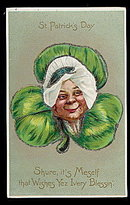 1907 Tucks St. Patricks Day Woman Postcard