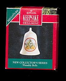Hallmark Rabbits Thimble Bell Ornament