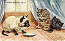 'Don't Forget About Us' Siamese Cats Postcard