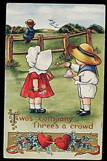 Sunbonnet Girl Valentine's Day 1907 Postcard