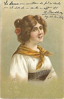 Girl with Bandanna 1906 Postcard