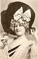 Glamour Lady in Large Hat Artist 1907 Postcard