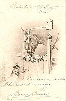 1902 Horse with Greyhound Artist Postcard