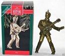 Hallmark 1992 ELVIS Brass Ornament in Box