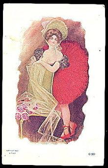 Glamour Lady Ballerina Girl 1906 Postcard