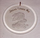 Hallmark 1990 Rabbit 'Jesus Loves Me' in Box
