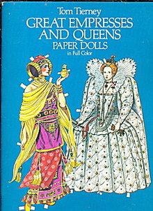 Tom Tierney Great Empress & Queens Paper Dolls