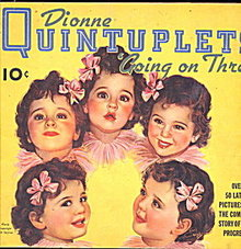 1936 Dionne Quintuplets Going on Three Book