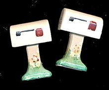 1950s Japan  Mailbox Ceramic Salt & Pepper