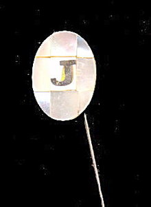 Lovely Vintage Initial 'J' Mother of Pearl Pin