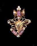 Vintage Pink Rhinestones Pendant/Brooch