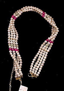 Vintage Faux Pearl Beaded Choker Necklace