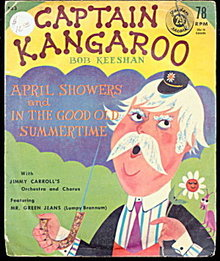 1958 Captain Kangaroo 78 RPM Record with Sleeve
